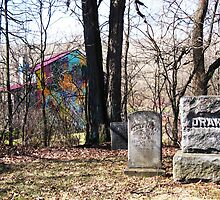 Country Cemetery With A Difference, Boston, NY by artwhiz47