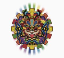 Aztec Warrior Mask Rainbow Colors Kids Clothes
