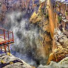 Lookout post next to Augrabies waterfall by Rudi Venter