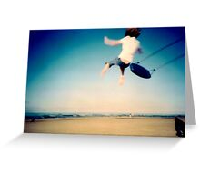 Lomo - And then you let go... Greeting Card