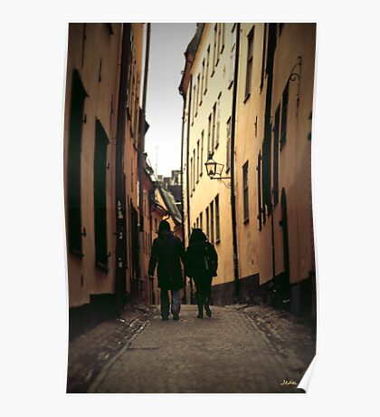 Stockholm's streets Poster