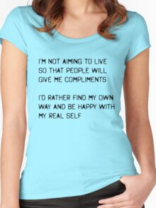 My Real Self Women's Fitted Scoop T-Shirt