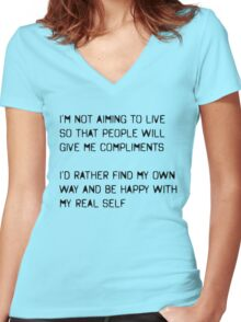 My Real Self Women's Fitted V-Neck T-Shirt
