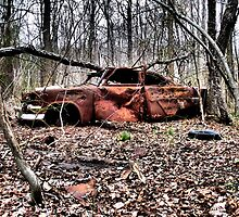 Abandoned Auto. Charles County, Maryland. 2009 by jwhimages