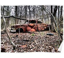 Abandoned Auto. Charles County, Maryland. 2009 Poster