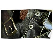 Denim & Leather - Product shot Poster