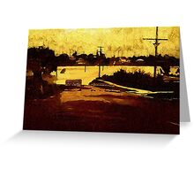 Road Closed.....Road Flooded Greeting Card