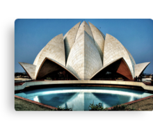 The expressionistic Lotus temple Canvas Print