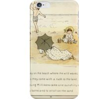 The Glad Year Round for Boys and Girls by Almira George Plympton and Kate Greenaway 1882 0022 Far Away on the Beach iPhone Case/Skin