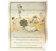 The Glad Year Round for Boys and Girls by Almira George Plympton and Kate Greenaway 1882 0022 Far Away on the Beach Poster