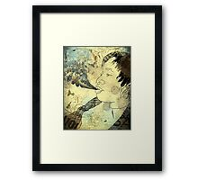 Wish you would disappear Framed Print