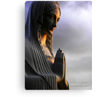 Say a Prayer (Madonna statue) Canvas Print