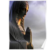 Say a Prayer (Madonna statue) Poster