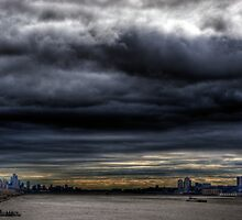 The Storm Has Broken--Hudson River Clouds HDR by Dave Bledsoe