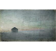 Grain Bin in Winter Photographic Print