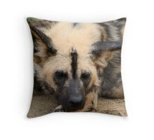 """""""Painted Dog"""" Throw Pillow"""
