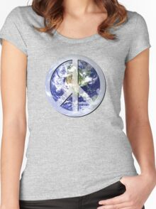 peace on earth Women's Fitted Scoop T-Shirt