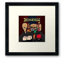 Food Fight Framed Print