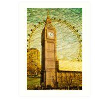 Grungy Big Ben: London UK Art Print
