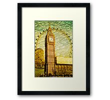 Grungy Big Ben: London UK Framed Print
