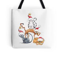 Kazart Xmas Cat Stack  Tote Bag