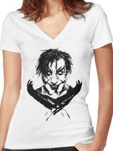 MEIN LAND DEMON Women's Fitted V-Neck T-Shirt