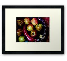 Coloured fruits Framed Print