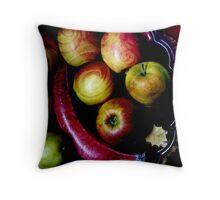 Coloured fruits Throw Pillow