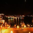 Inner Harbour by Night, Victoria, Vancouver Island. BC by AnnDixon