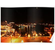 Inner Harbour by Night, Victoria, Vancouver Island. BC Poster