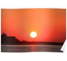 Atlantic Beach Sunset Poster