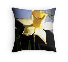 Daffodil Sun Throw Pillow