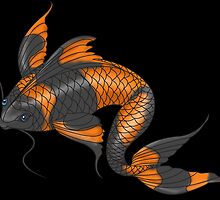 Koi Fish Study by Devaron