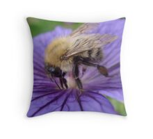 Bumble Bee Just Visiting. Throw Pillow