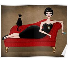 red couch Poster