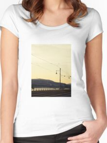 Tracks along the Danube Women's Fitted Scoop T-Shirt