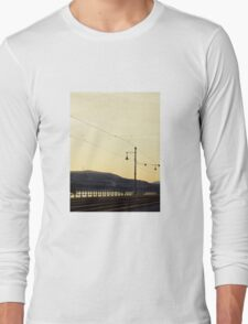 Tracks along the Danube Long Sleeve T-Shirt