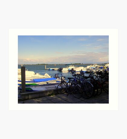 Bicycles and Boats  Art Print