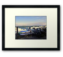 Bicycles and Boats  Framed Print