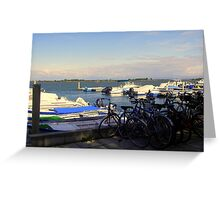 Bicycles and Boats  Greeting Card