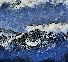 NZ Alps Kaikoura 2010 Hyperrealism by Rob Watson