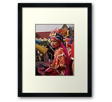 Young Shan boys Framed Print