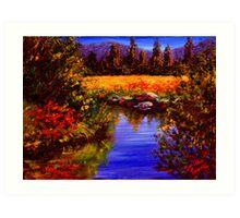 River Reflections on Tuolumne Meadows Art Print