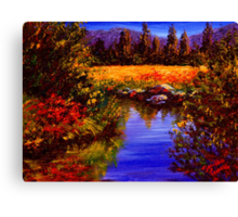 River Reflections on Tuolumne Meadows Canvas Print