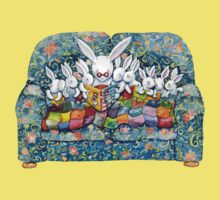 bunny bed time Kids Clothes