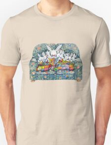 bunny bed time Unisex T-Shirt