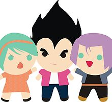 Saiyan Royal Family by momothistle