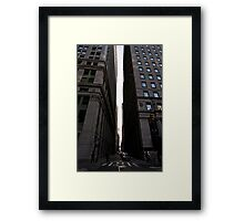 Broadway and Pine Street Framed Print