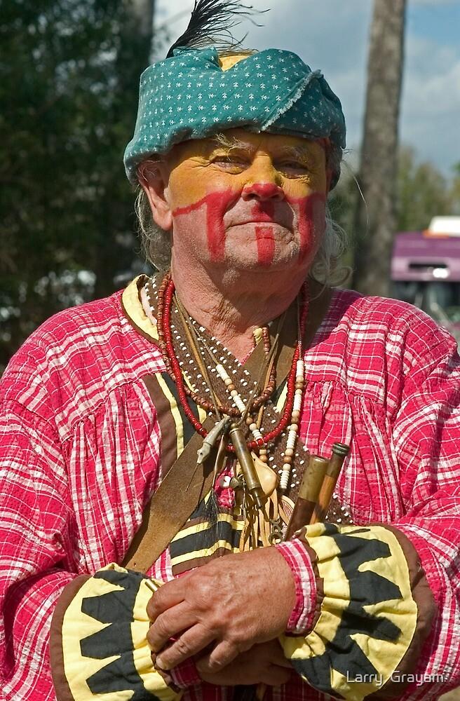 Seminole reenactor by Larry  Grayam