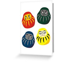 Hogwarts Daruma Greeting Card